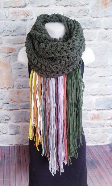 Olive Green Dreamcatcher Scarf
