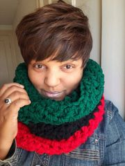 Pan African Chunky Infinity Scarf