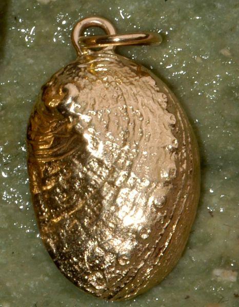 14K Gold Abalone Pendant - Small