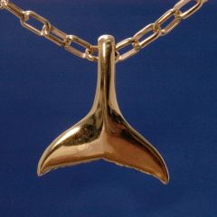 14K Gold Whale Tail - Large