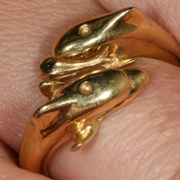 Dolphin Ring 14K Gold