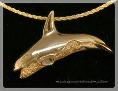 14K Gold Orca Pendant