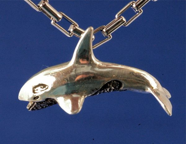 Orca Pendant in Silver