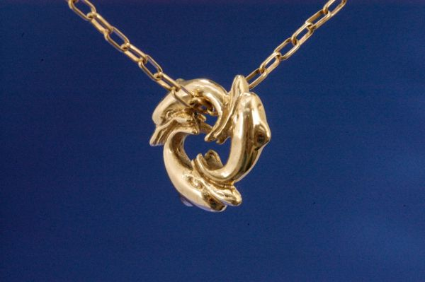 Circle of Dolphins in 14 Karat Gold, Small Size
