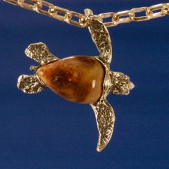 Sea Turtle in 14K Gold with personalized shell