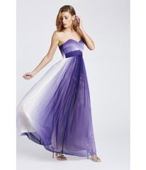 Dip-Dye Strapless Evening Dress