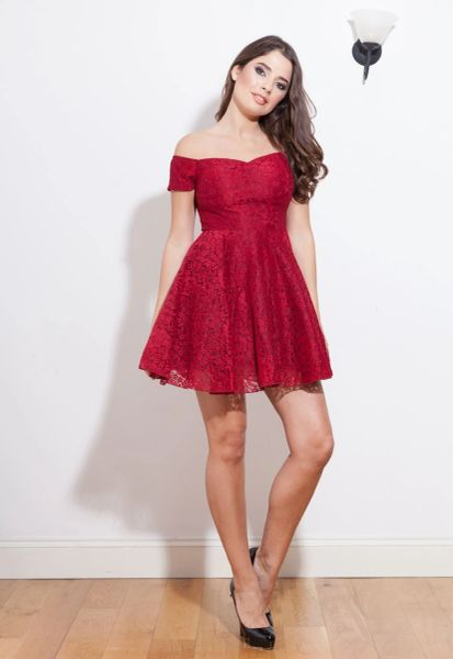 Margot Lace & Tutu Dress in Burgundy