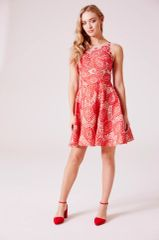 91d7ebbc0095da Hand beaded crocket red lace prom dress