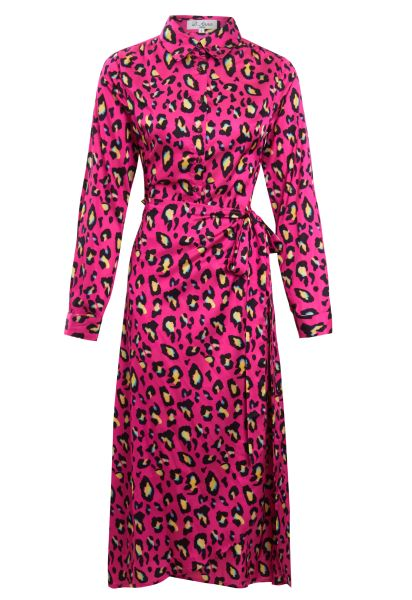 The bright pink gorgeous leopard print