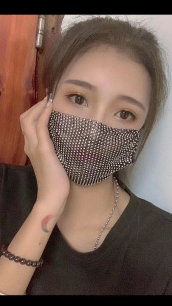 Diamante Embellished Face Masks