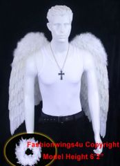 Angel of Love, Extra Large, White feather wings w/halo