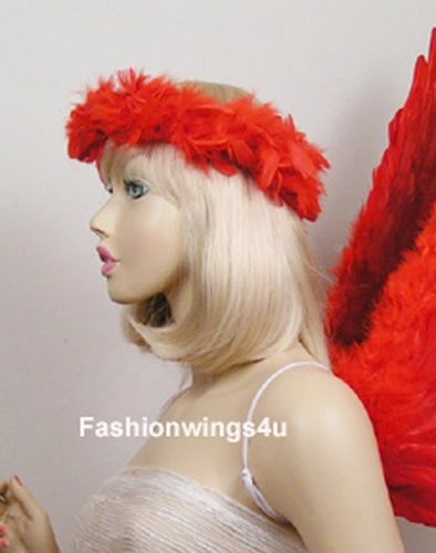 Red Feather Elastic Halo for Teens and Adults