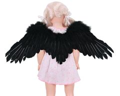 Angel of Desire, Medium, Black feather wings