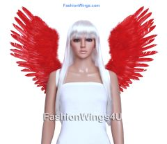 Angel of Victory, Large, Red feather wings