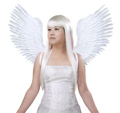 Angel of Victory, Large, White feather wings