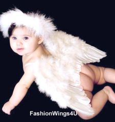 Angel of Love, Medium, White feather wings w/halo