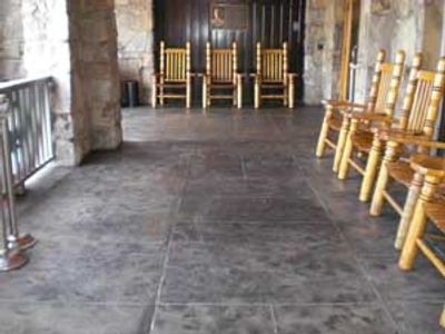 Ruby Falls Stamped Concrete Entry