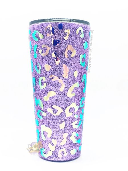HOLOGRAPHIC OPAL LEOPARD TUMBLER