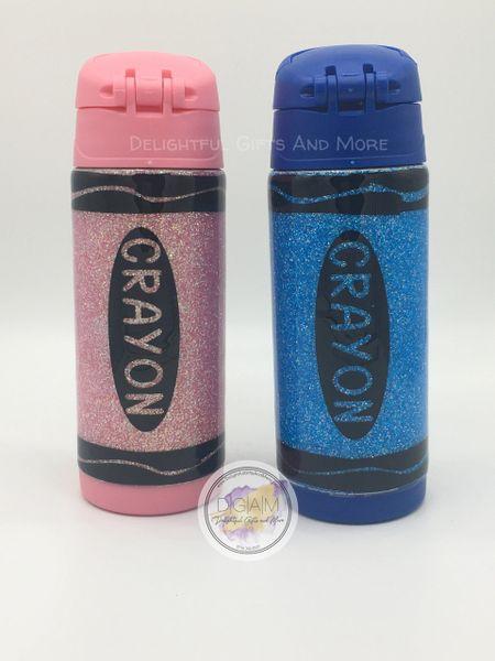Crayon Sippy Glitter Tumbler
