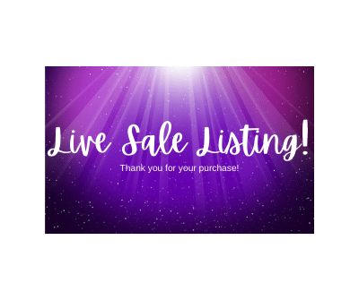Live Sale Listing for Saddie Cherry