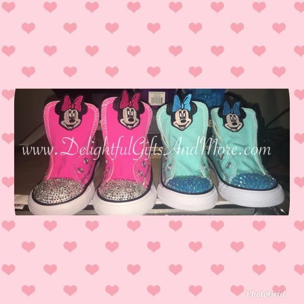 INFANT/TODDLER/LITTLE KIDS BLING CHUCK TAYLOR CONVERSE ALL STARS