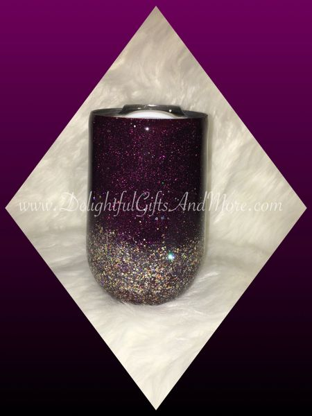 Glitter Wine Tumbler