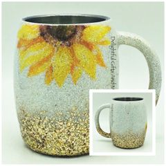 SUNFLOWER GLITTER TUMBLER