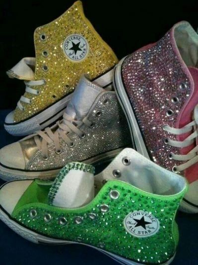 WOMEN'S BLING CONVERSE ALL STARS HI-TOPS