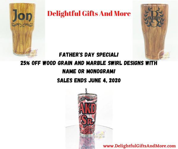Father's Day Special - Wood Grain or Marble Swirl