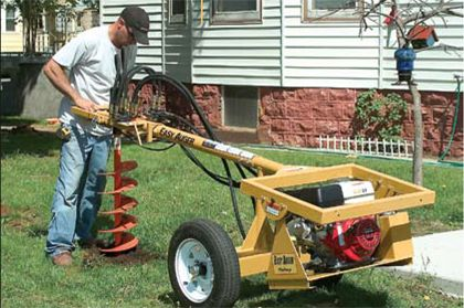 Post Hole Digger, Towable Gas 8-HP