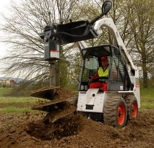 Post Hole Digger, Hydraulic Attachment (Bobcat)