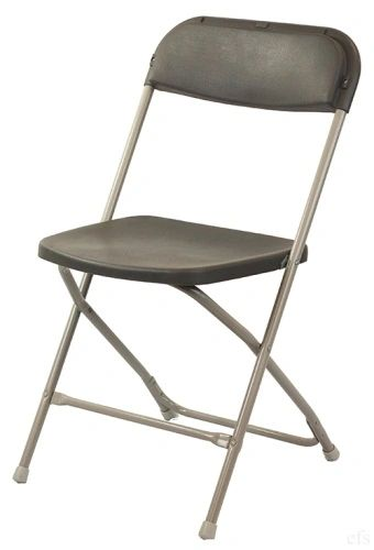 Chair, Plastic Folding (Black) Used Equipment for Sale!