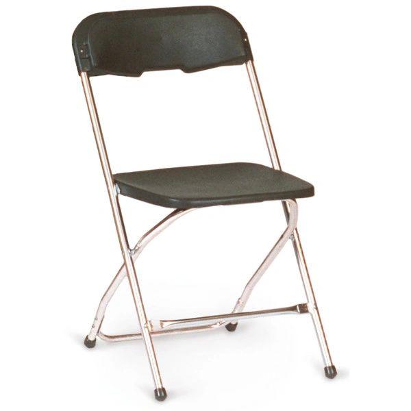 Chair, Plastic Folding (Black)