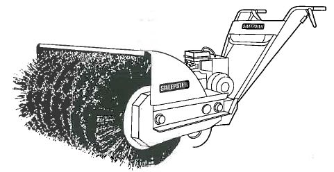 Sweeper, Walk Behind Gas