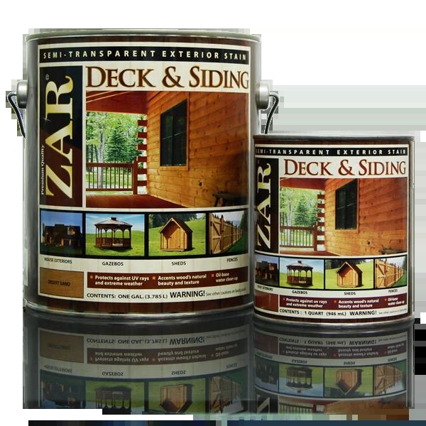 Exterior Stain, Zar Deck & Siding Semi-Transparent Exterior Stain (Gallon)