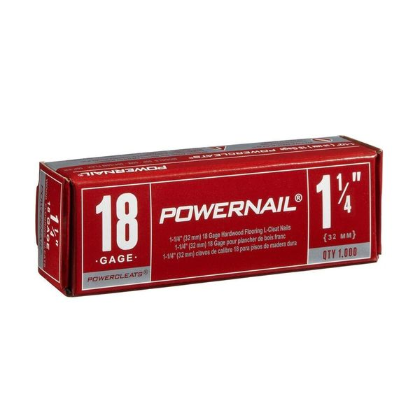 "Nails, Hardwood Flooring (1-1/4"" 18 Gauge) 1000 / Box"