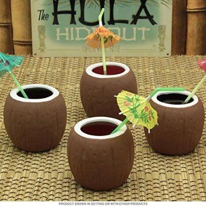 Glass, Coconut Cups - Ceramic (14 OZ)