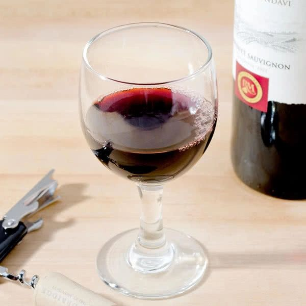 Glass, Wine - Red Wide Top (6.5 OZ)