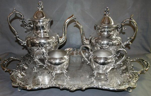 Tea and Coffee Set, Silver