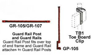 Corner Post, Hand Rail Scaffolding