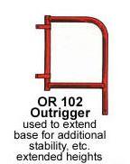 Outrigger, Scaffolding