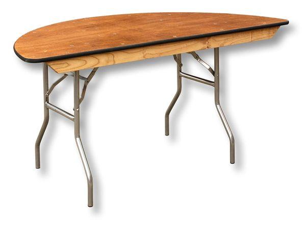 "Table, Half-Round 60"""