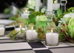 Candle Holder, Glass Votive