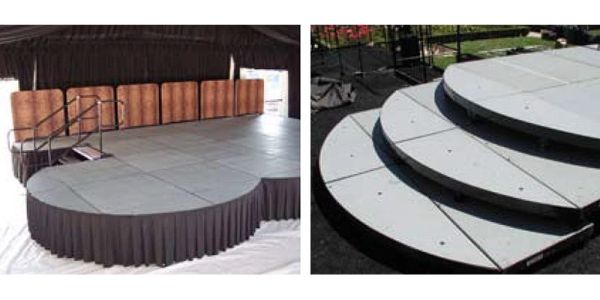 Stage, Deck (Round Corner)