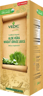 Wheat Grass in Aloe Vera