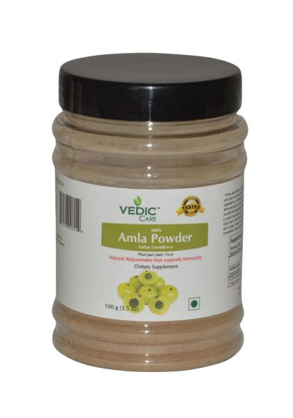 Vedic Care 100% Amla Powder (Indian Gooseberry) 3.5 OZ