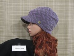 Purple Charcoal Fleece Lined Beanie
