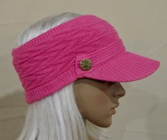 Hot Pink Three Season Visor - Long Bill