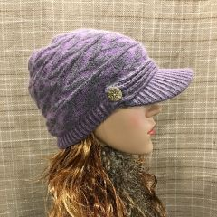 Purple Charcoal Beanie