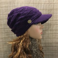Purple Fleece Lined Beanie